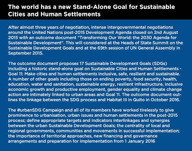 UrbanSDG Goal Statement